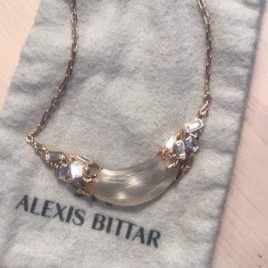 Alexis Bittar rose gold, lucite, & Swarovski stone